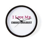 I Love My CHARACTEROLOGIST Wall Clock