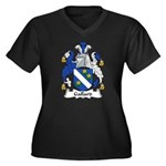 Gallard Family Crest Women's Plus Size V-Neck Dark