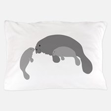 Mother Manatee Pillow Case
