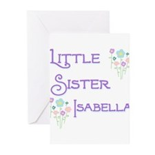 Little Sister Isabella Greeting Cards (Pk of 10)