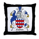 Gaines Family Crest Throw Pillow