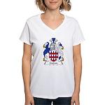 Gaines Family Crest  Women's V-Neck T-Shirt