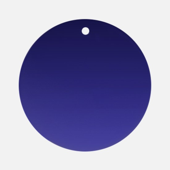 royal blue ombre Ornament (Round)