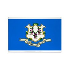 Connecticut Blank Flag Rectangle Magnet