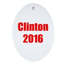 Clinton 2016-Imp red 400 Ornament (Oval)