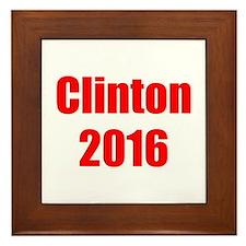 Clinton 2016-Imp red 400 Framed Tile