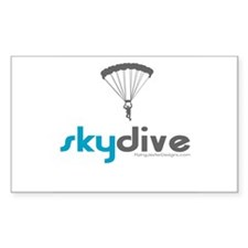 Blue Skydive Rectangle Decal