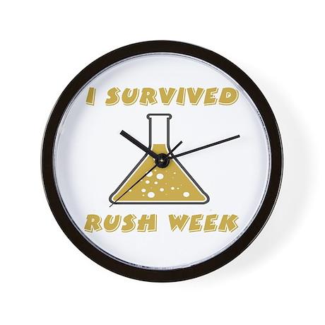 I Survived Rush Week Wall Clock