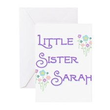 Little Sister Sarah Greeting Cards (Pk of 10)