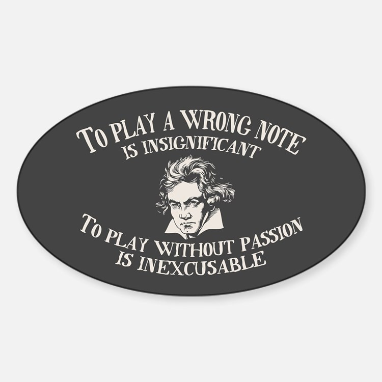 Insignificant v. Inexcusable Sticker (Oval)