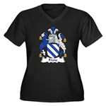 Frene Family Crest Women's Plus Size V-Neck Dark T
