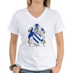 Frene Family Crest Women's V-Neck T-Shirt