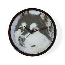 Wall Clock - Dog - Alaskan Malamute