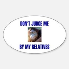 RELATIVES Oval Decal