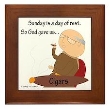 Bro Cigars Framed Tile