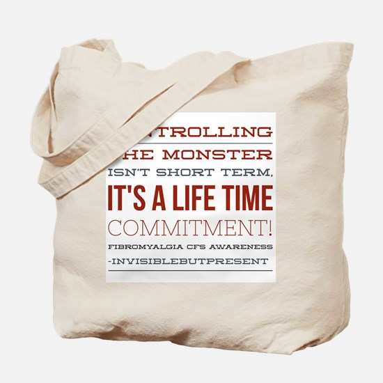 Controlling the monster © Tote Bag