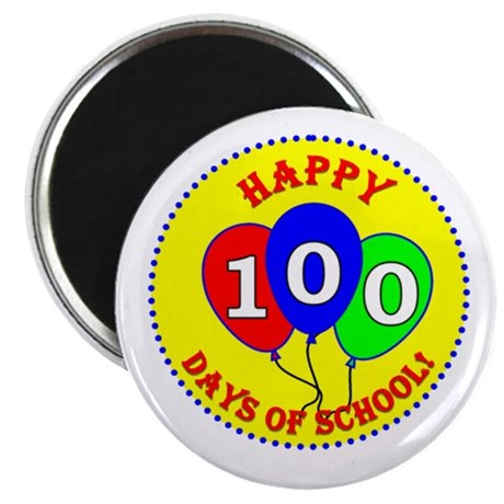 """2.25"""" 100th Day of School Magnet (10 pack)"""