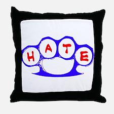 Hate Brass Knuckles Throw Pillow