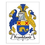Frankland Family Crest Small Poster