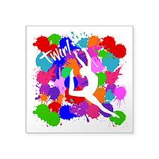 "SPLATTER TWIRL Square Sticker 3"" x 3"""