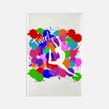 SPLATTER TWIRL Rectangle Magnet
