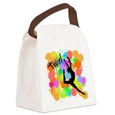 SPLATTER TWIRL Canvas Lunch Bag
