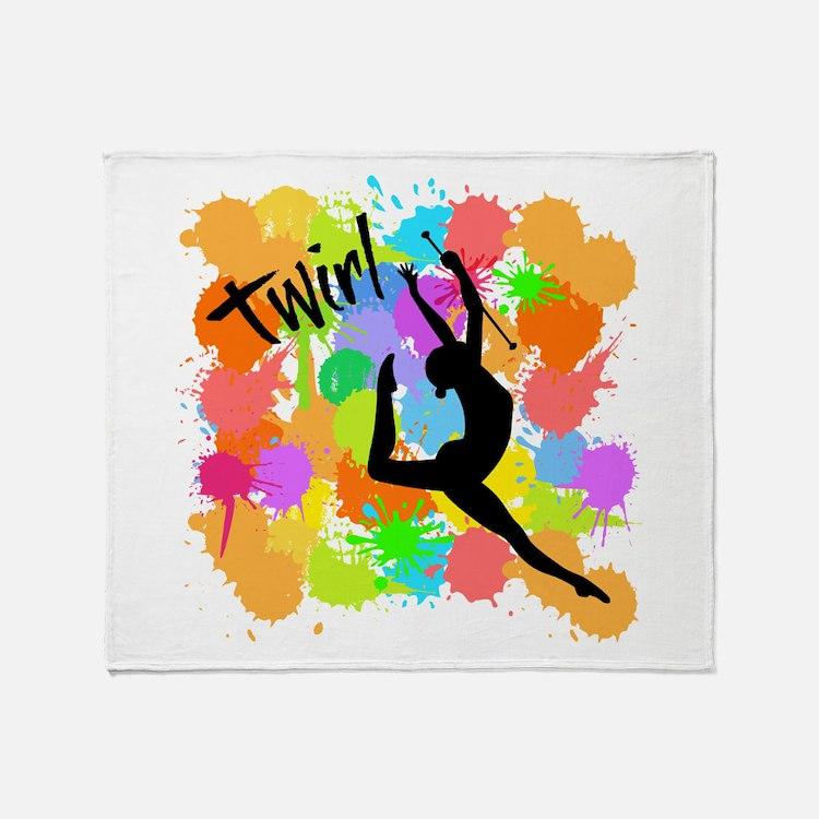 SPLATTER TWIRL Throw Blanket
