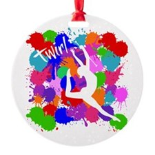 SPLATTER TWIRL Ornament