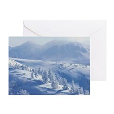 Snow Mountain Greeting Card