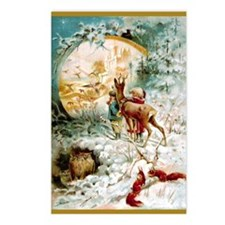 Cute Wiccan christmas Postcards (Package of 8)