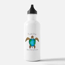 Earth Day Turtle Water Bottle
