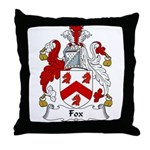 Fox Family Crest Throw Pillow