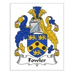 Fowler Family Crest Small Poster