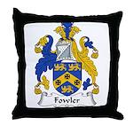 Fowler Family Crest Throw Pillow