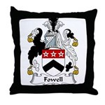 Fowell Family Crest Throw Pillow