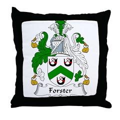 Forster Family Crest Throw Pillow