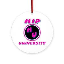 Hip University Pink Ornament (Round)
