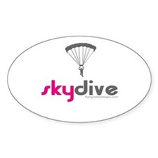 Pink Skydive Oval Decal
