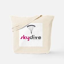 Pink Skydive Tote Bag