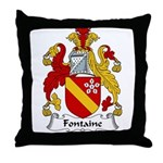 Fontaine Family Crest Throw Pillow