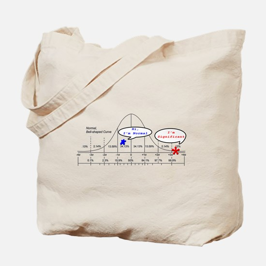 Unique Normal distribution Tote Bag