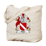 Foliot Family Crest Tote Bag