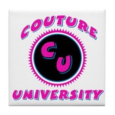 Couture University Pink Tile Coaster