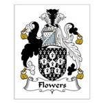 Flowers Family Crest  Small Poster
