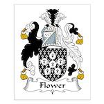 Flower Family Crest Small Poster