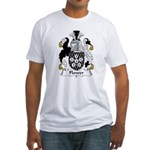 Flower Family Crest Fitted T-Shirt
