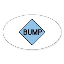 BABY BUMP (BLUE) Oval Decal