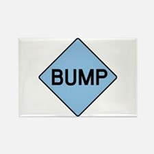BABY BUMP (BLUE) Rectangle Magnet