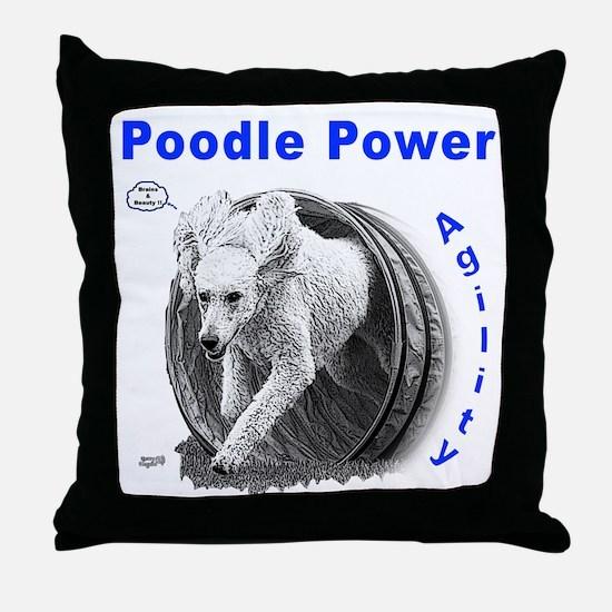 Poodle Power Agility Throw Pillow