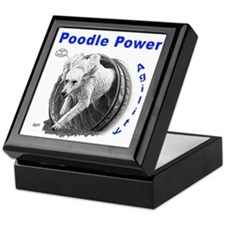 Poodle Power Agility Keepsake Box